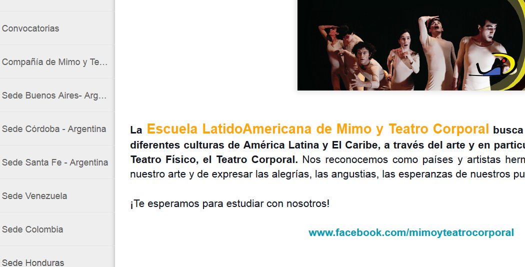 Escuela   Latinoamericana  de Mimo y Teatro Corporal